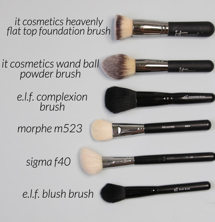 face makeup brushes for travel - everything you'll need!