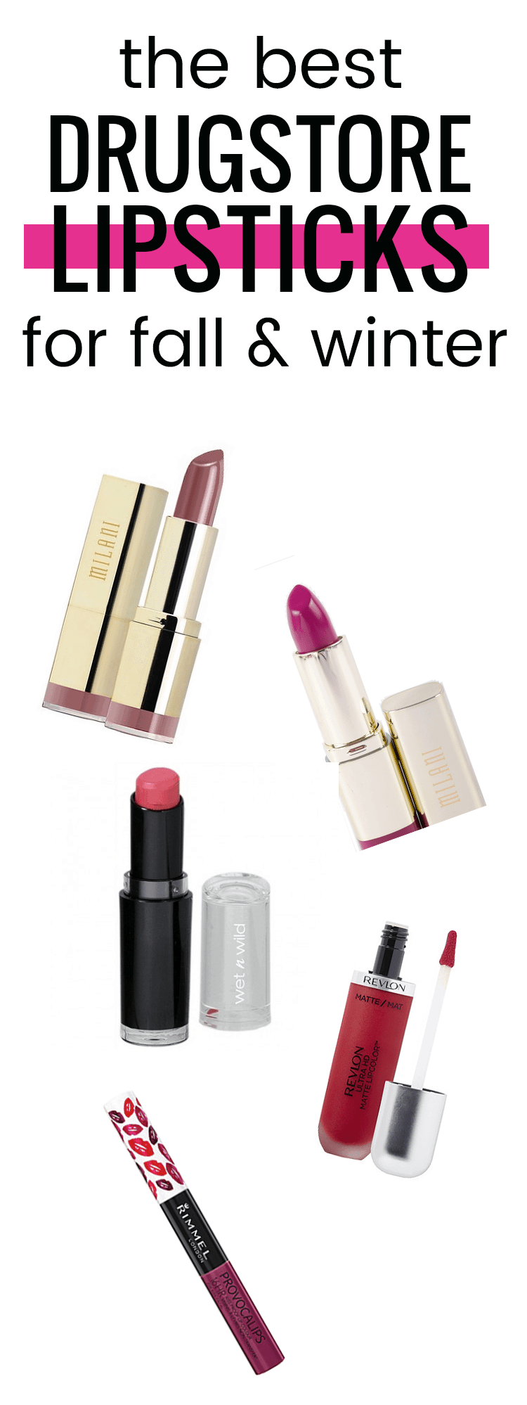 the best drugstore lipsticks for fall and winter. Love these deeper colors!!
