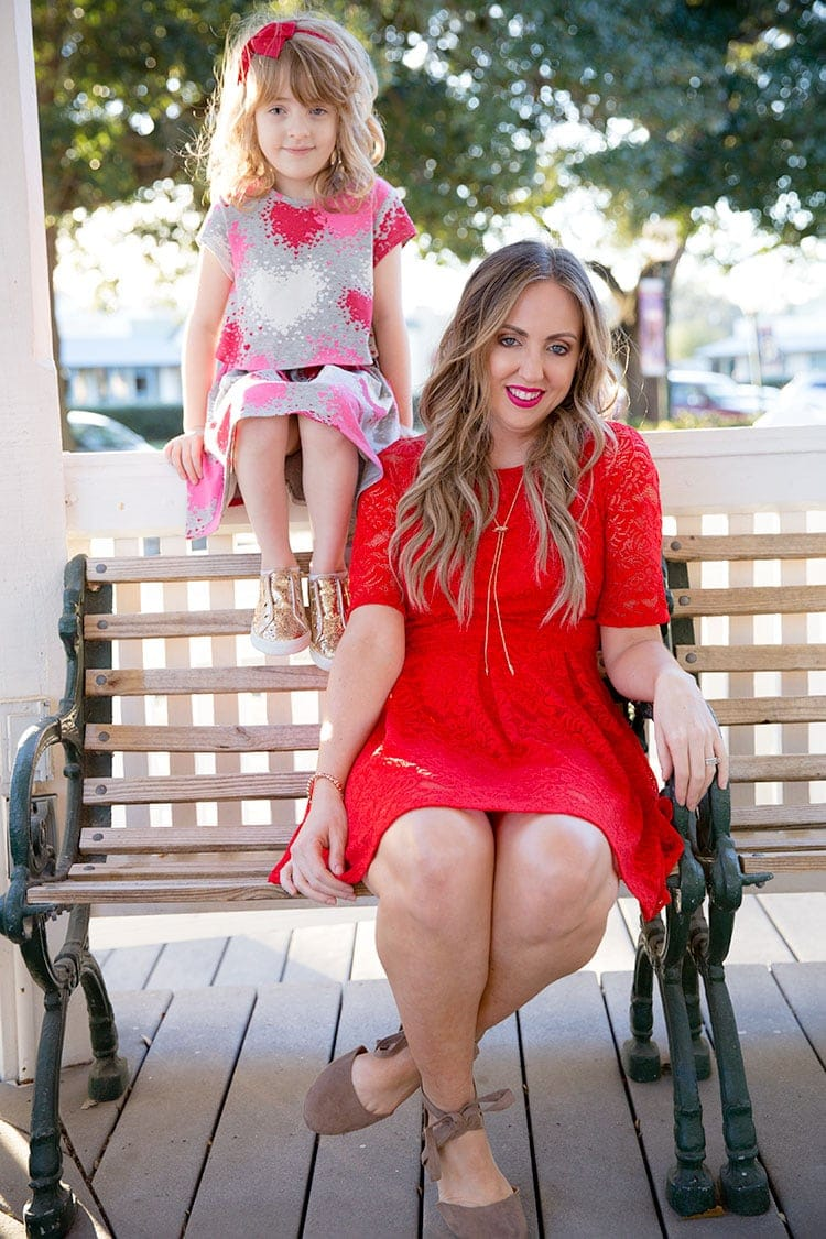 Mother daughter Valentine's Day outfits