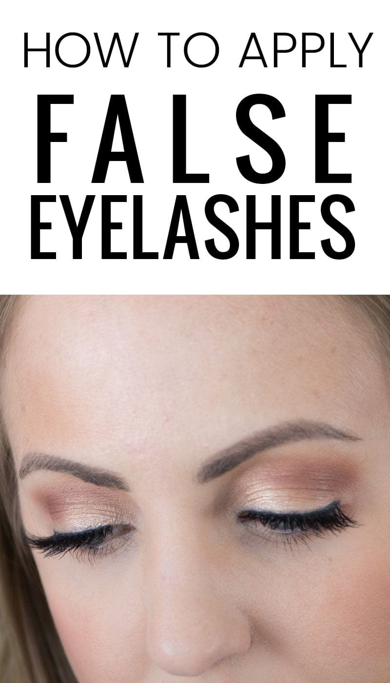 how to apply false lashes - it's easy!
