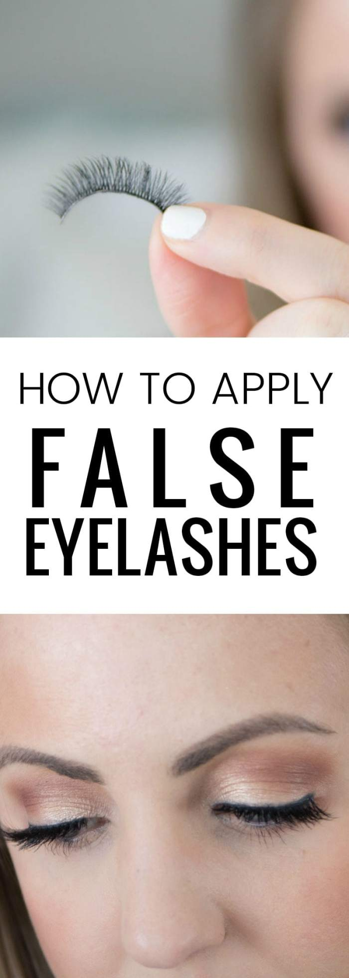 how to apply false eyelashes - it's easier than you think!