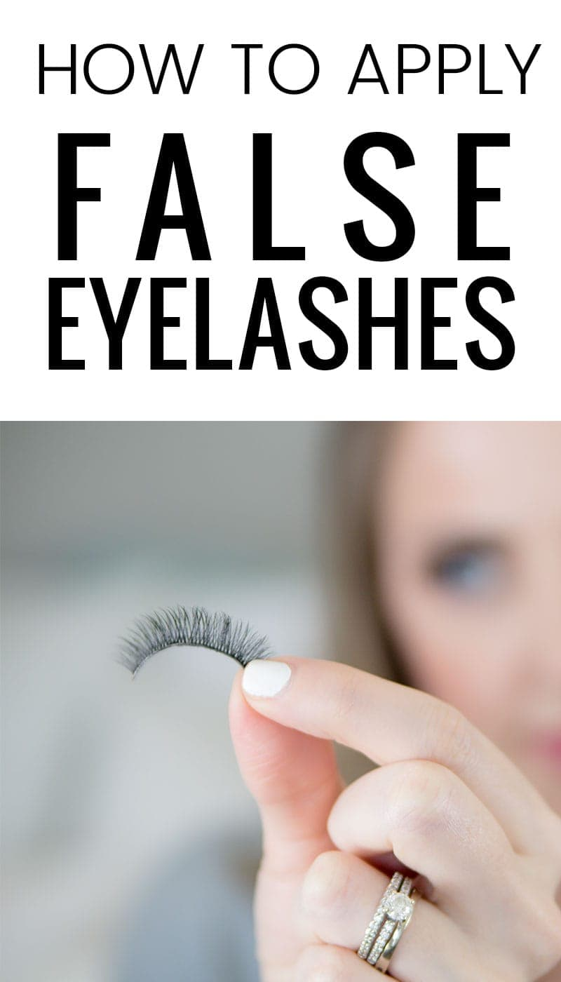 how to apply falsies / how to apply false eyelashes