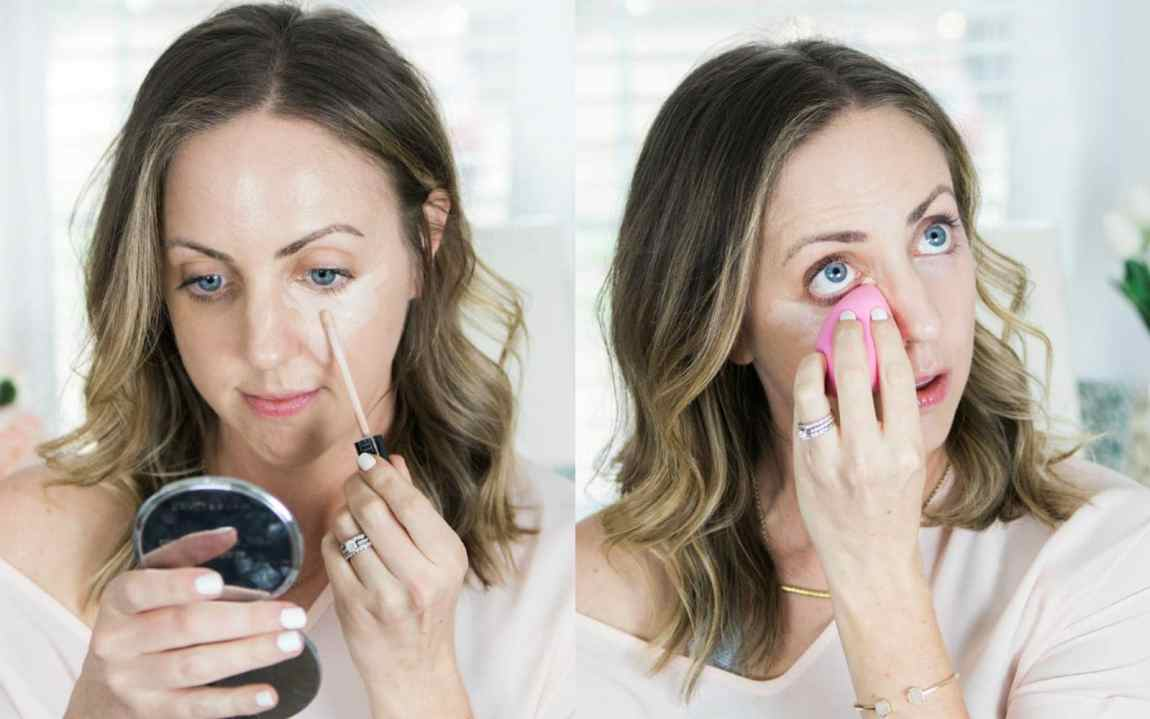 A brightening concealer under the eyes makes you look more awake!