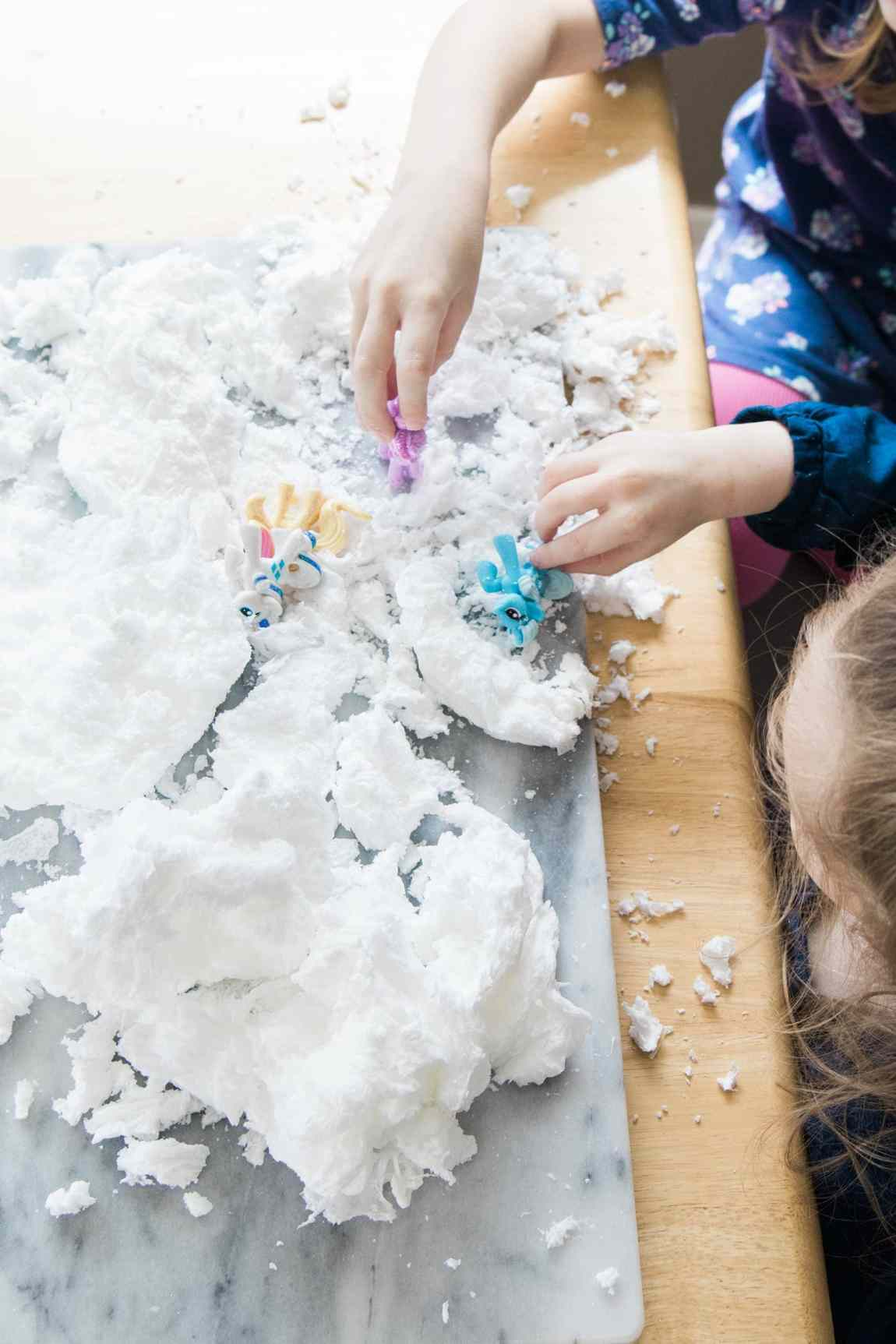 playing in ivory soap clouds