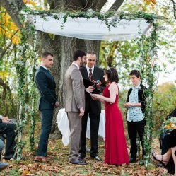 Emily Clack (This chuppah is available for rent from Meg Owen Floral Design)