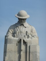 The Brooding Soldier, Canadian Memorial near St. Julien