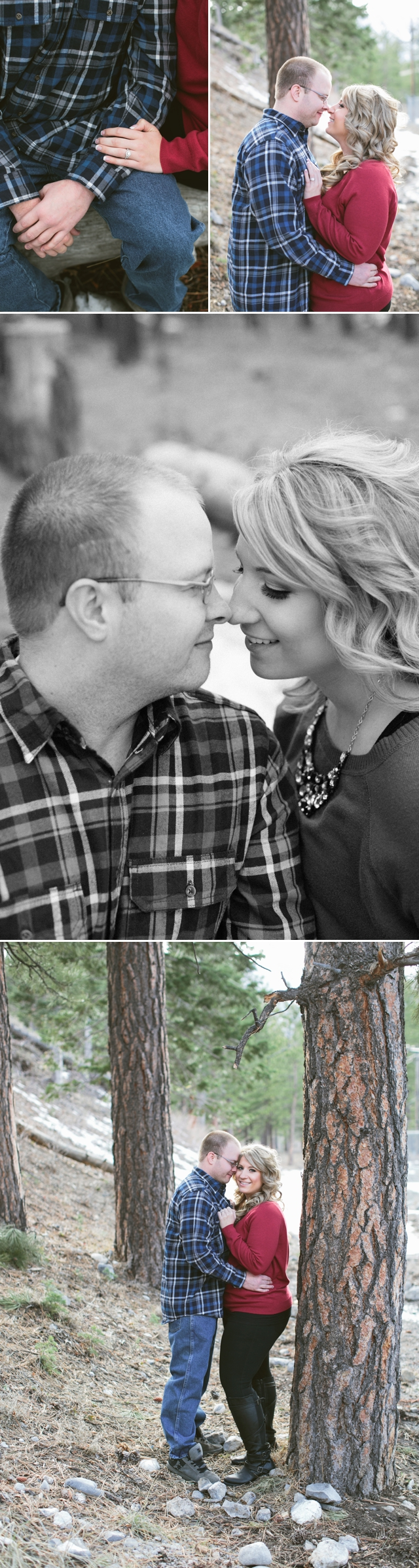 Mt. Charleston Engagements Las Vegas by Meg Ruth Photo with hair and makeup by Your Beauty Call