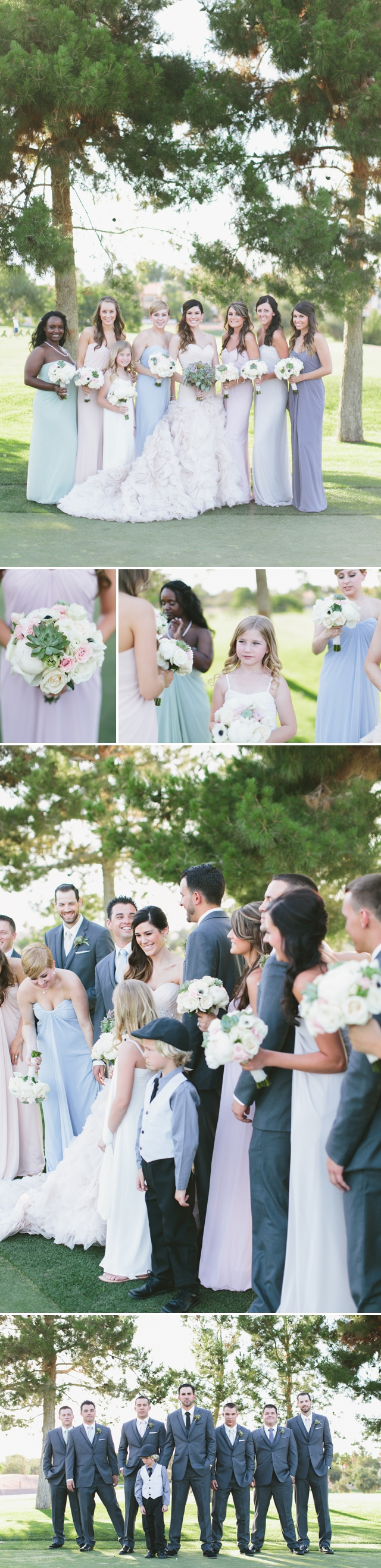Canyon Gate Country Club Wedding by Meg Ruth Photo Succulent Bouquet, Pink wedding dress