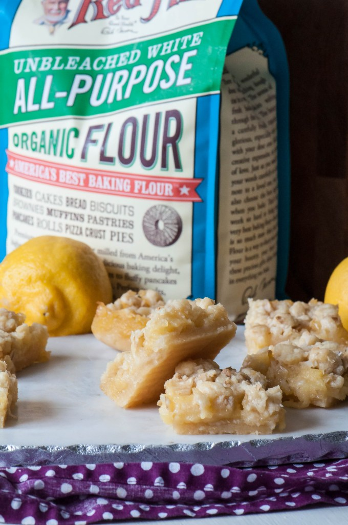 Lemon Curd Shortbread Crumble Bars