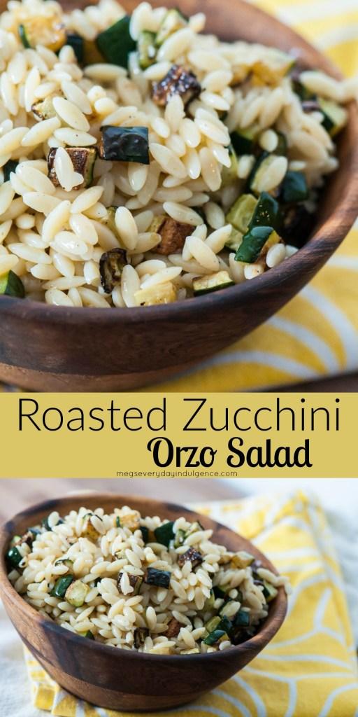 Roasted Zucchini Orzo Salad