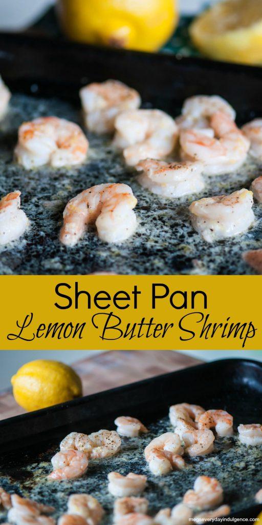 Sheet Pan Lemon Butter Shrimp