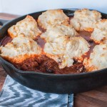 Chili Pot Pie with Cheddar Drop Biscuits