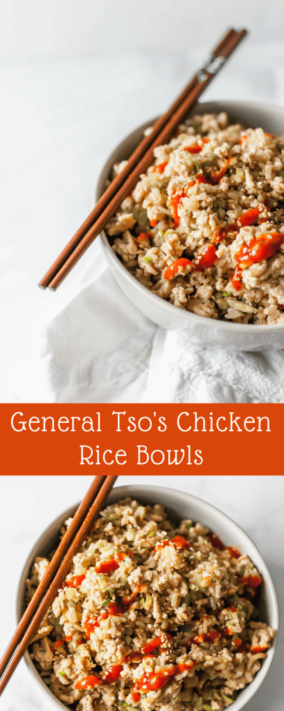 General Tso's Chicken Rice Bowls