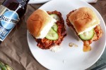 Hot Chicken Sliders with Quick Pickles