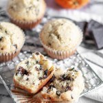 Orange Chocolate Chunk Muffins are light and easy to mix up. Dotted with dark chocolate chunks and sweet orange zest.