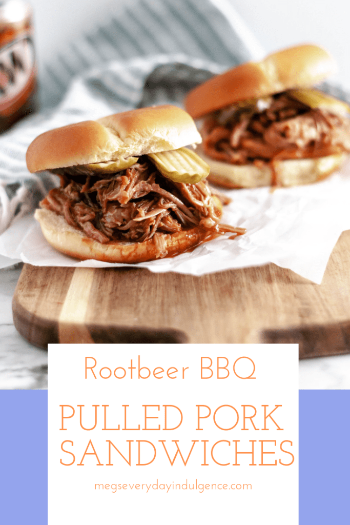 Rootbeer BBQ Pulled Pork Sandwiches are super simple to make in the slow cooker. Four ingredients & hours in the slow cooker to tender, saucy perfection.
