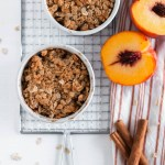Feed that sweet tooth with just the right amount with this Small Batch Peach Crisp recipe. It makes two mini desserts and they are made in 45 minutes from start to finish.