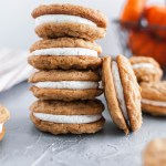 These Pumpkin Oatmeal Creme Pies will immediately become your new favorite fall dessert. Pumpkin oatmeal cookies with a fluffy marshmallow filling.