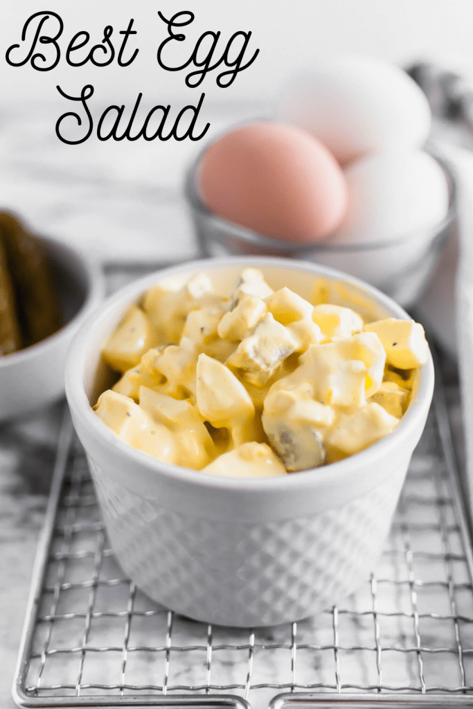This is the Best Egg Salad around. Simple to make with pantry and refrigerator staples. Pickles replace the celery for a bright crunch.