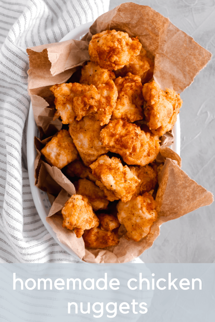 Skip the store-bought and make you homemade chicken nuggets instead. They are easier than you might think and way more delicious. The perfect family friendly dinner.