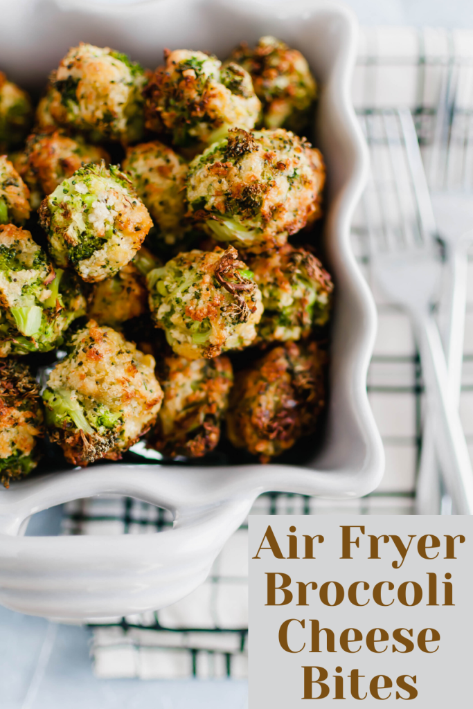 These Air Fryer Broccoli Cheese Bites are perfect for Christmas or New Years Eve appetizers. Simple to make, healthy and delicious.