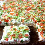 Veggie pizza bars