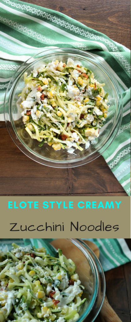 Elote style creamy zucchini noodles