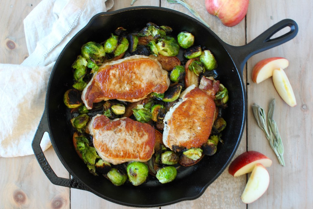 Boneless seared pork chops
