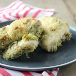 stuffed chicken with pesto and cheese