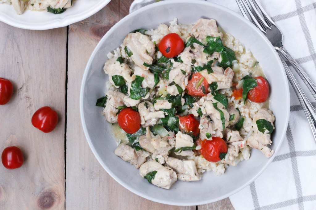 Chicken with brown rice
