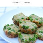 Toddler food quinoa pea mini muffins