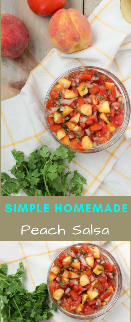 homemade simple peach salsa