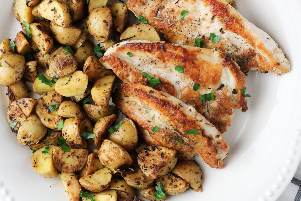 potatoes and chicken