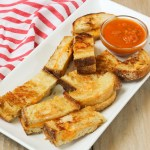Grilled Cheese Dippers with Trader Joe's Autumn Soup