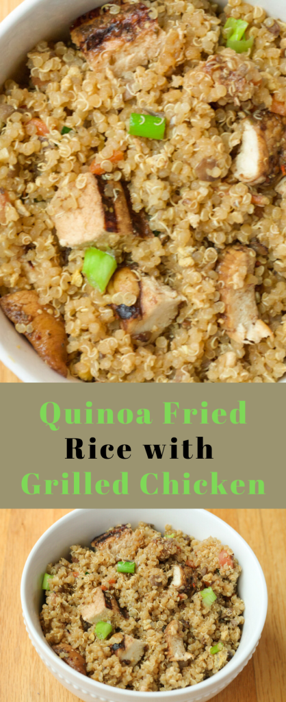 quinoa fried rice and chicken