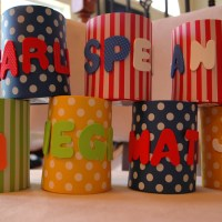 Personalized Koozie Party Gifts + Napkin Folding