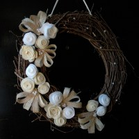 Rustic Wreath {Burlap and Pearls}