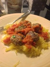 Red Sauce, Meatballs, and Spaghetti Squash