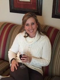 Enjoying the Door County Wine