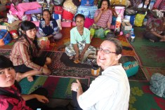 With grandmothers, refugees of Mt. Sinabung eruption.