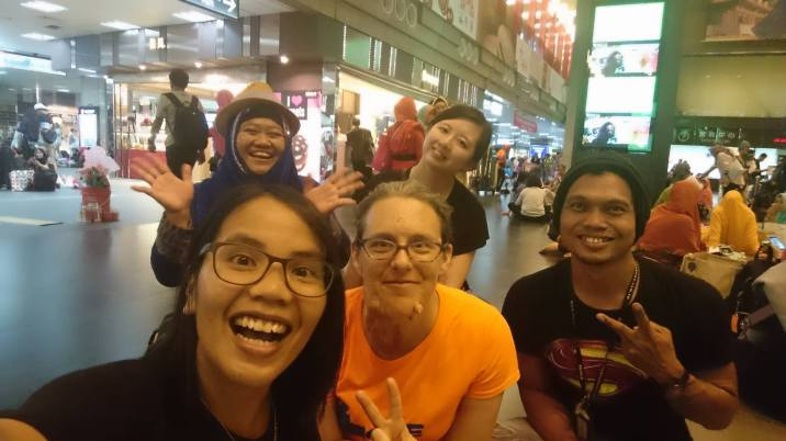 Meeting new friends in Taipei Main Station