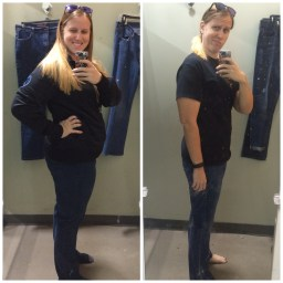 January 2016 - Size 14 & September 2016 - Down to a size 8!