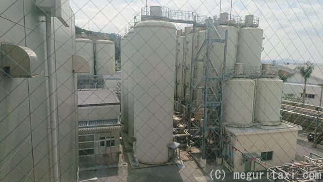 オリオンハッピーパーク工場外・ビール貯蔵タンク