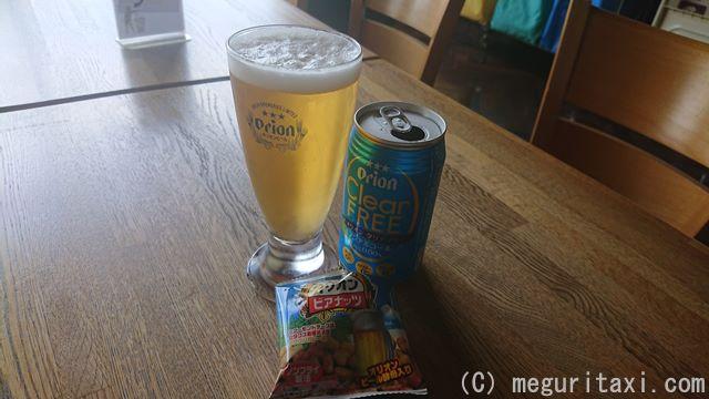 オリオン・ノンアルコールビール「オリオンクリアフリー」とオリオン自家製おつまみ