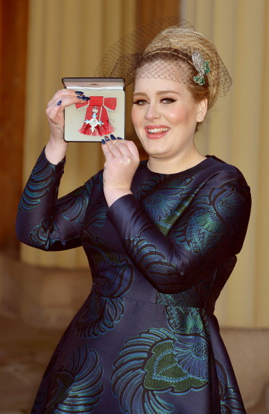 Adele Adkins Receives MBE At Investitures Ceremony