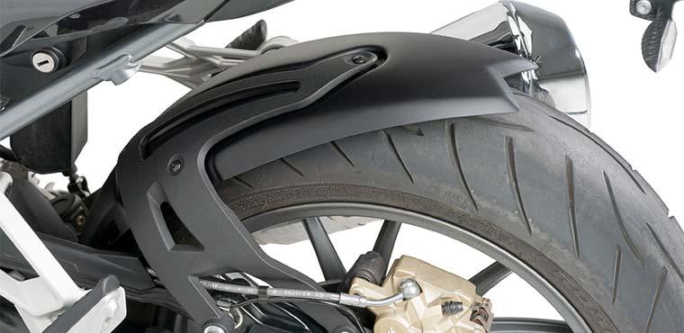 Guardabarros de una moto deportiva