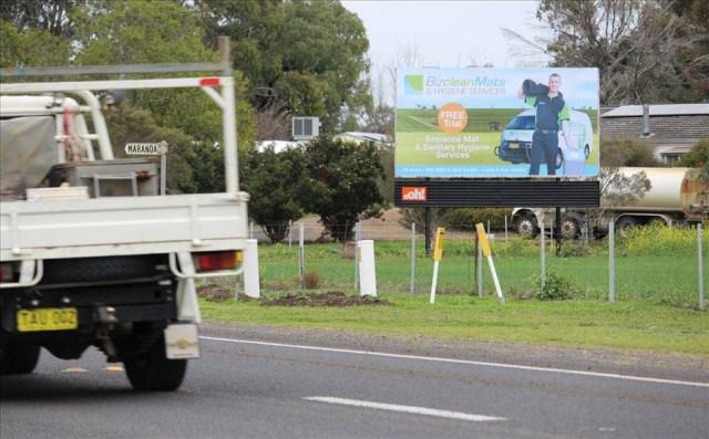 Roadside Billboards for Bizclean Mats & Hygiene