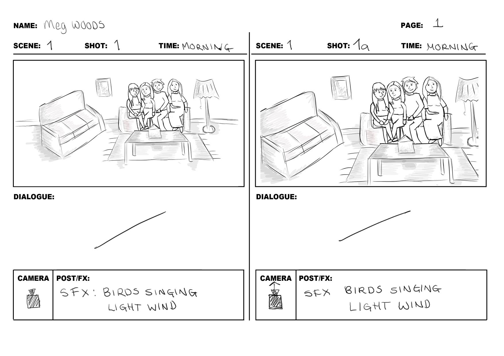 Brief 3 – Storyboard