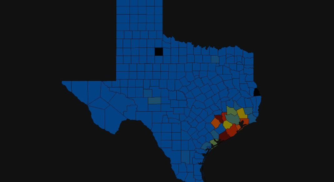 JUST IN - Over 360,000 without power in the Houston area after Hurricane Nicholas made landfall along the Texas coast this morning.