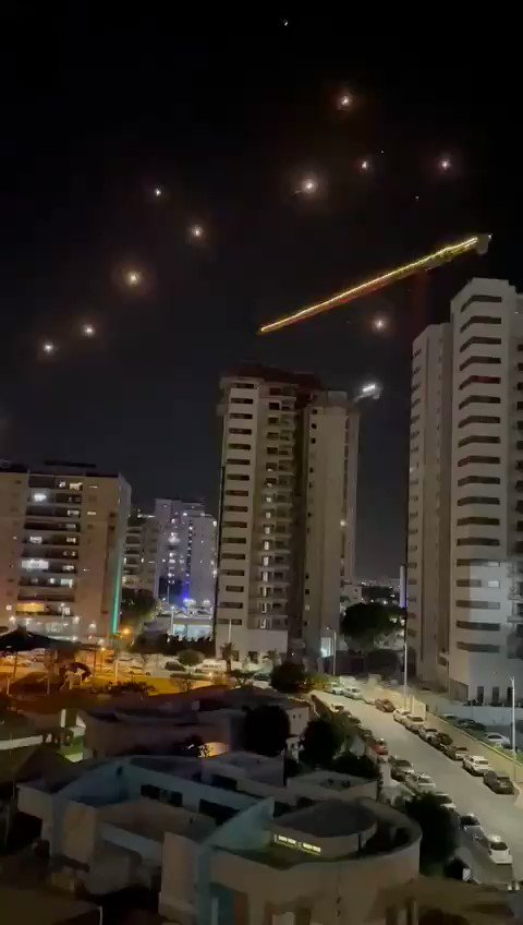 JUST IN - Iron Dome intercepts rockets over Ashdod in Israel. No direct impact has been reported from the latest rocket waves so far.